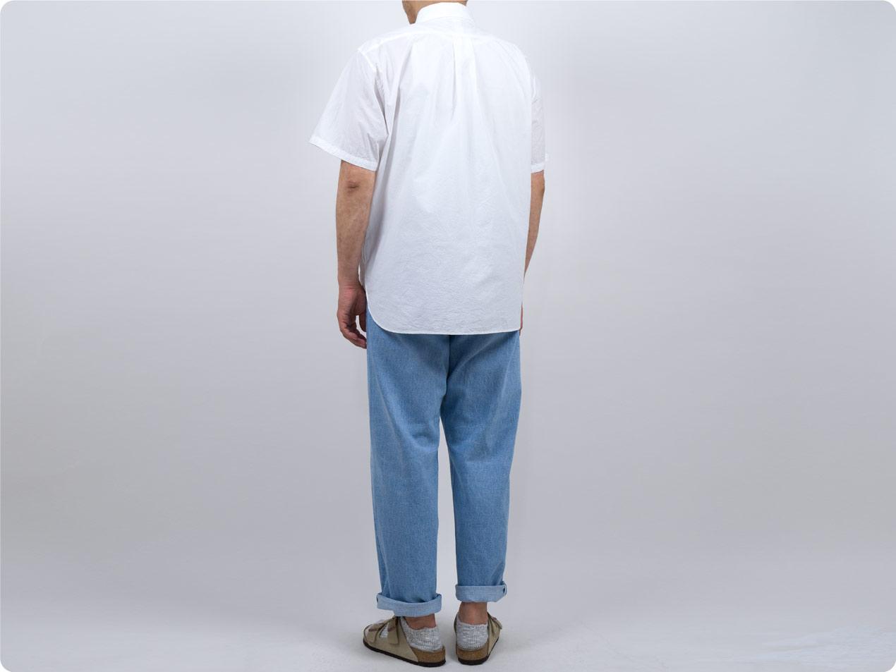 YAECA デニム ワイドストレート 13-13U LIGHT BLUE 〔メンズ〕