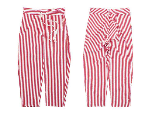 TATAMIZE -TRIM- ROOM PANTS RED STRIPE