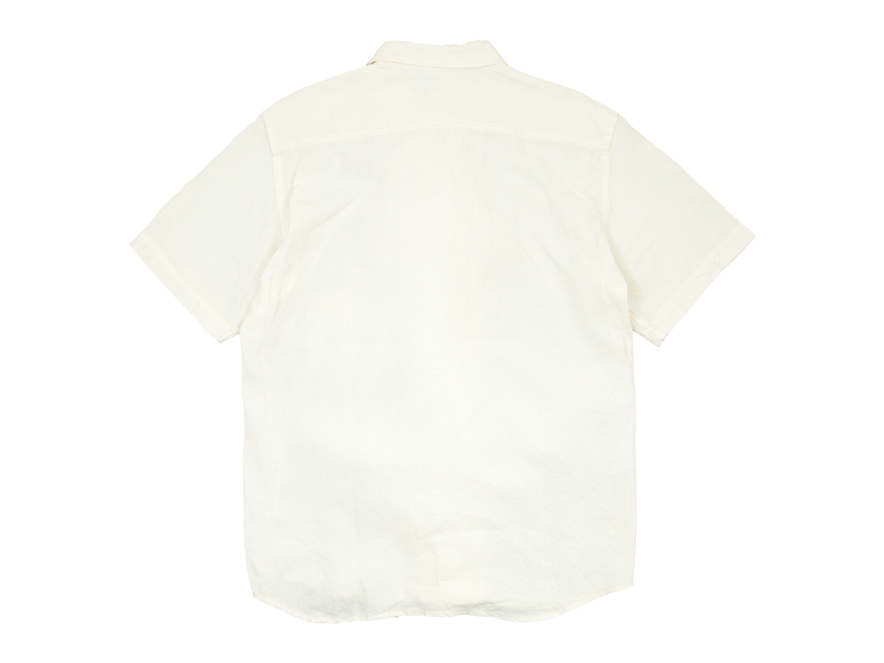 【別注】 TATAMIZE DOUBLE BRESTED LINEN S/S SHIRTS OFF WHITE