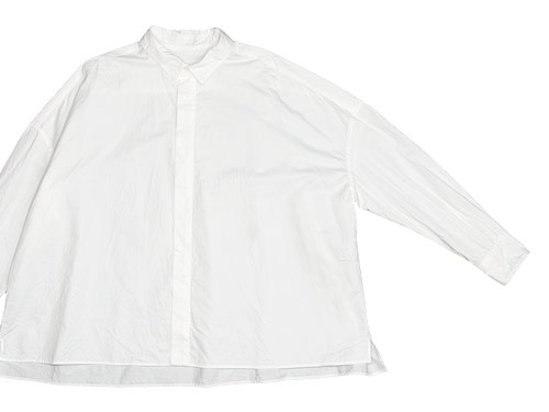 TOUJOURS Fly Front Square Collar Wide Shirts