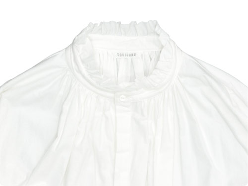 TOUJOURS Frill Collar Surplice Shirt