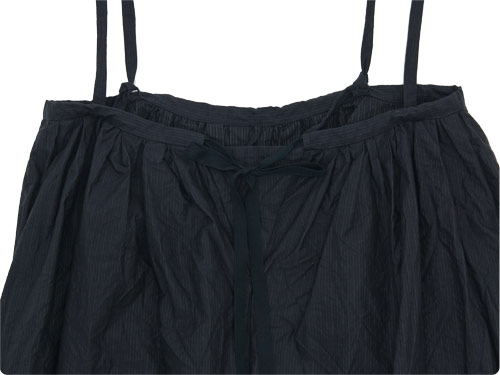 TOUJOURS Drawstring Suspender Skirt