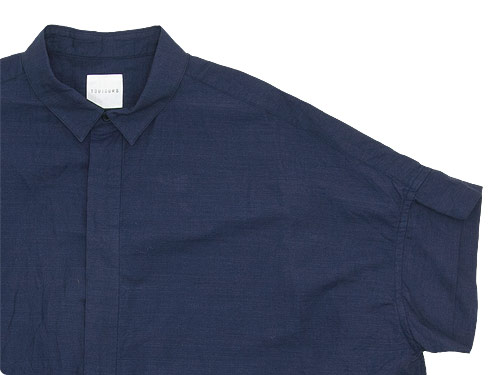 TOUJOURS Short Sleeve Wide Shirt