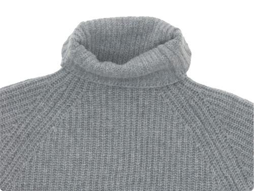 TOUJOURS Rib Stitch Turtle Neck Slit Pullover