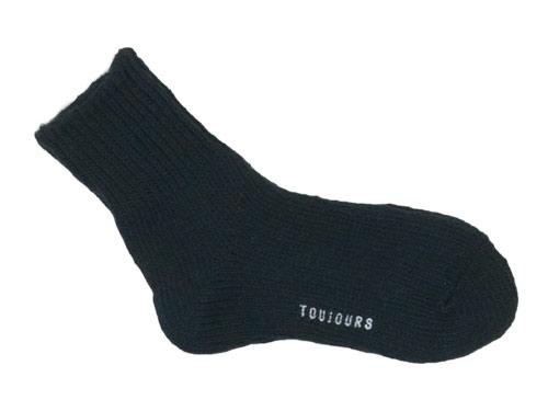 TOUJOURS Bulky Yarn Cotton Ankle Rib Socks