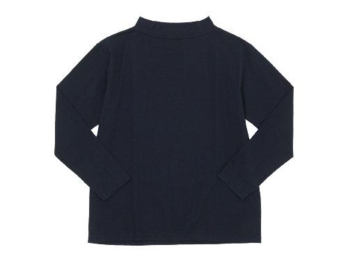 TOUJOURS High Boat Neck Big Basque Shirt / Short Sleeve Wide Shirt Dress