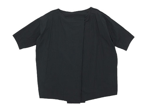 TOUJOURS Boat Neck Wrap Back Shirt