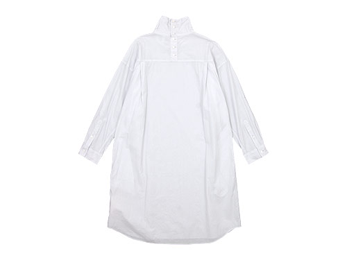 TOUJOURS High Neck Big Shirt Dress