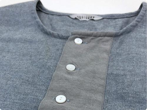 TOUJOURS Big Henley Neck Shirt