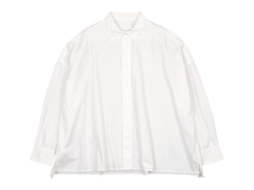 TOUJOURS Fly Front Square Collar Wide Shirts / Stole