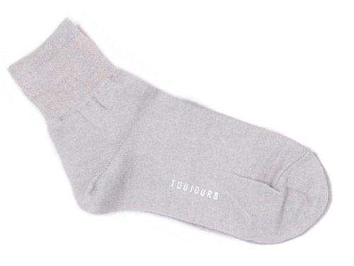 TOUJOURS Melange Pure Silk Socks