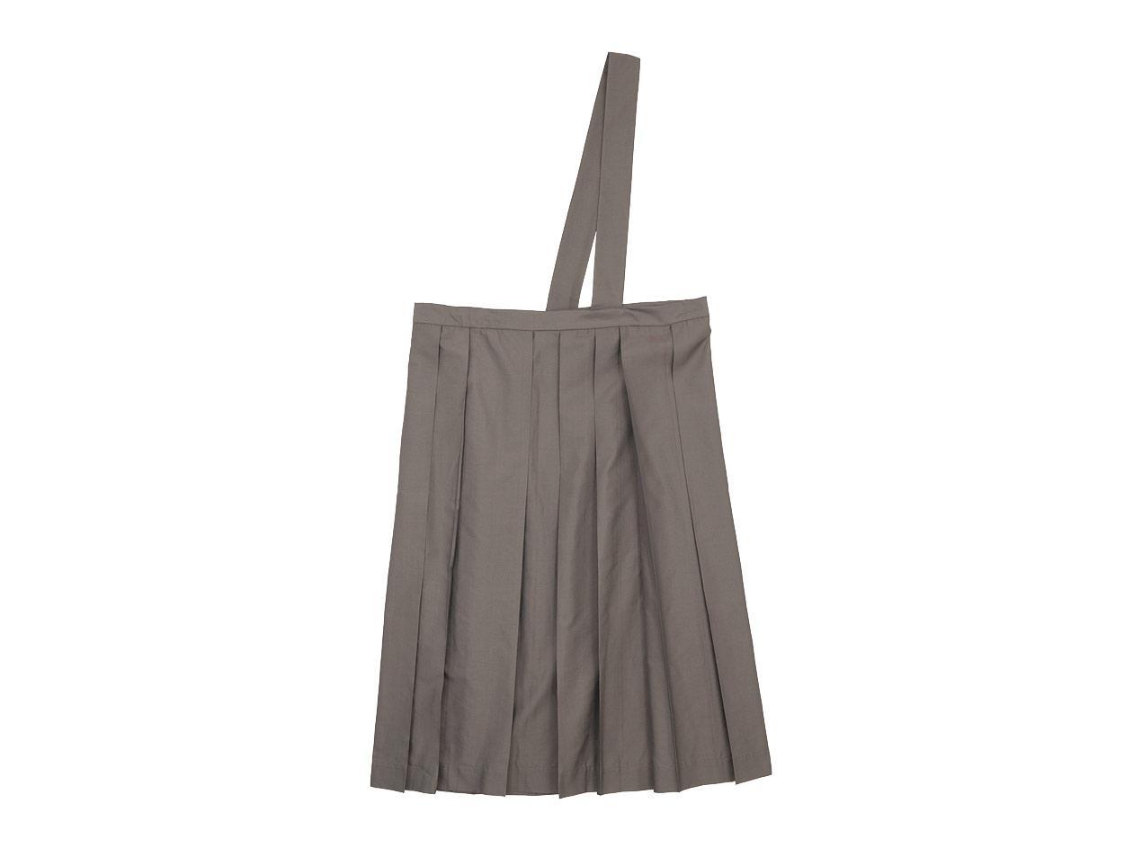 TOUJOURS One Shoulder Random Pleated Skirt