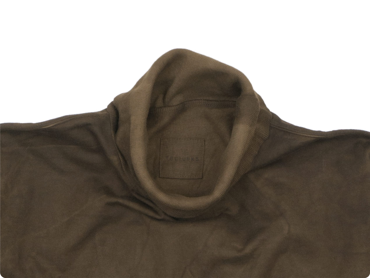 TOUJOURS Turtle Neck Pullover MUD DYE