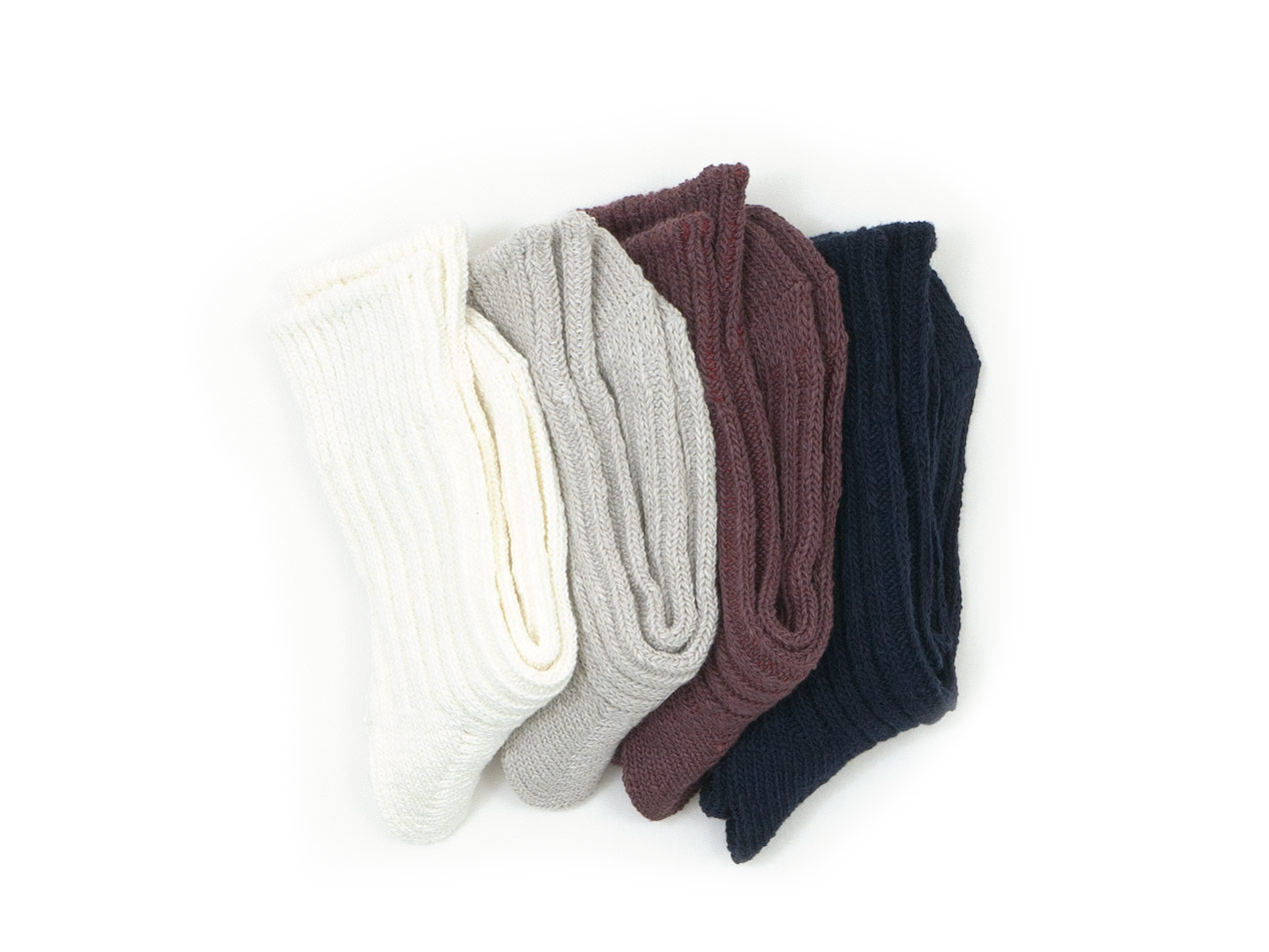 TOUJOURS Bulky Yarn Cotton Rib Socks