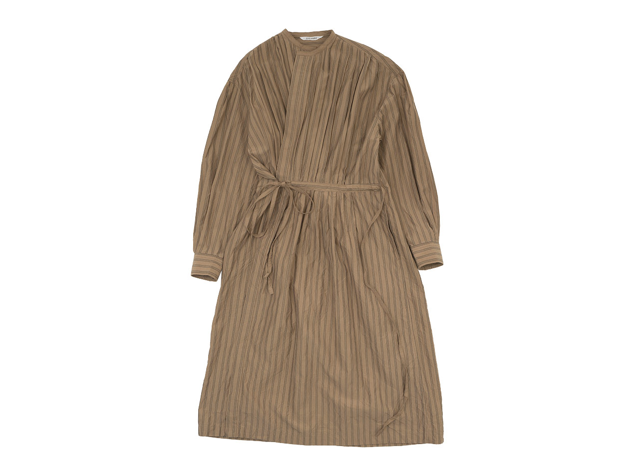 TOUJOURS Pin Tuck String Robe Dress / Back Button Long Shirt