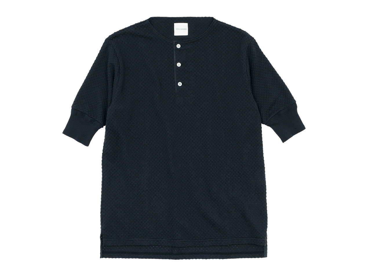 TOUJOURS Half Sleeve Henley Neck Shirt