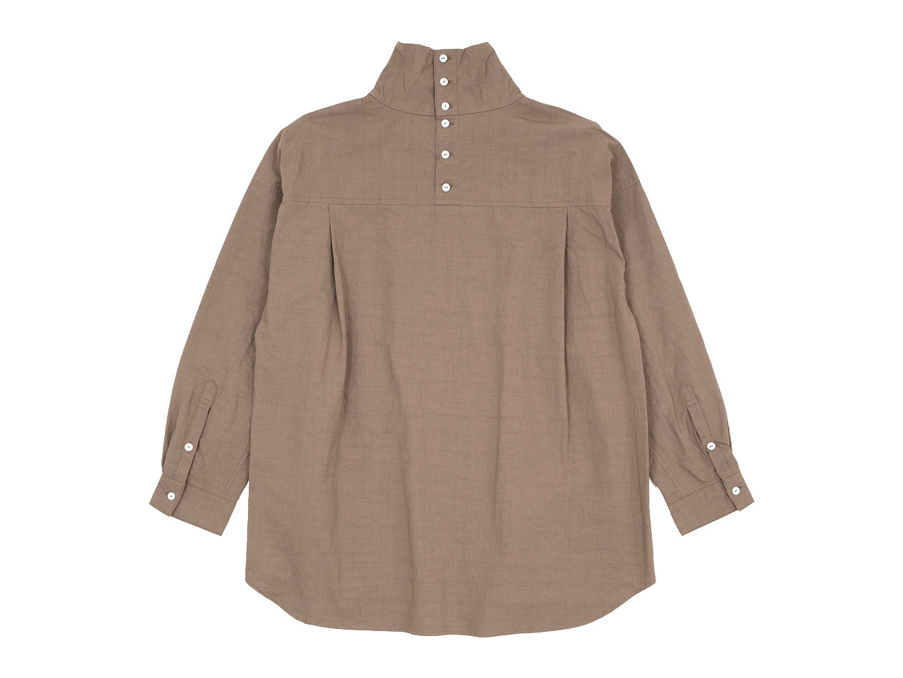 TOUJOURS High Neck Big Shirt