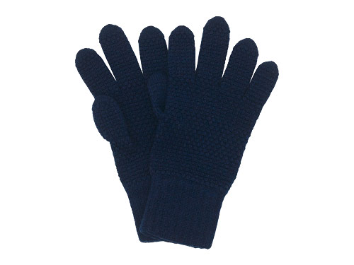 William Brunton Hand Knits Tuck Stitch Gloves