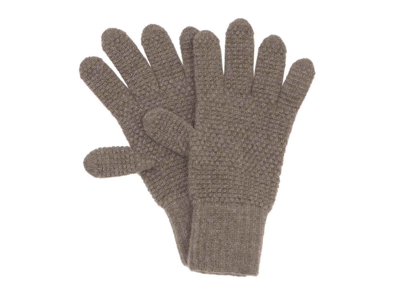 William Brunton Hand Knits Tuck Stitch Gloves