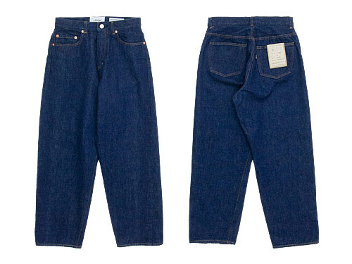 YAECA DENIM PANTS WIDE STRAIGHT 13WW INDIGO 〔レディース〕
