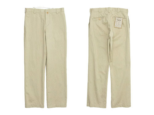 YAECA CHINO CLOTH PANTS PIPED STEM / TUCK TAPERED / DENIM PANTS WIDE TAPERED