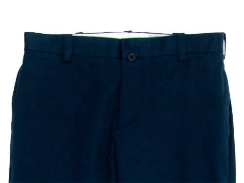 YAECA CHINO CLOTH PANTS PIPED STEM