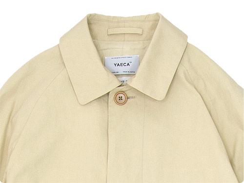 YAECA ステンカラーコート ショート