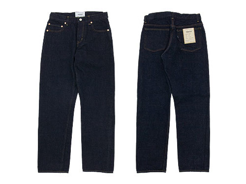 YAECA DENIM PANTS STRAIGHT 14W INDIGO 〔メンズ〕