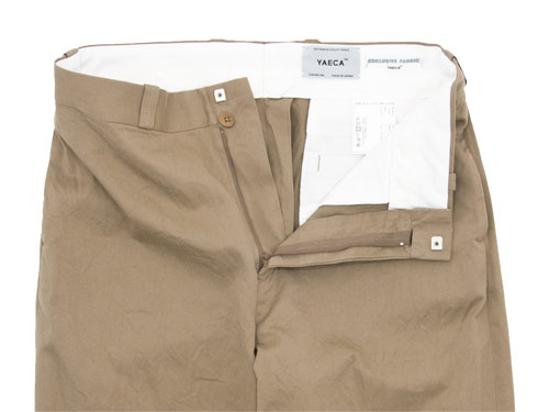 YAECA CHINO CLOTH PANTS STRAIGHT