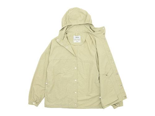 YAECA 60/40クロス フードシャツ ロング