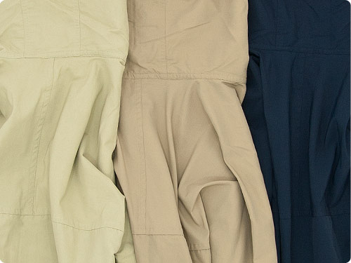 YAECA 60/40クロス フードシャツ ロング詳細