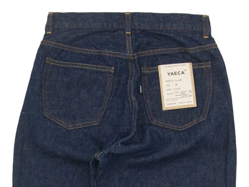 YAECA DENIM PANTS WIDE STRAIGHT 11W