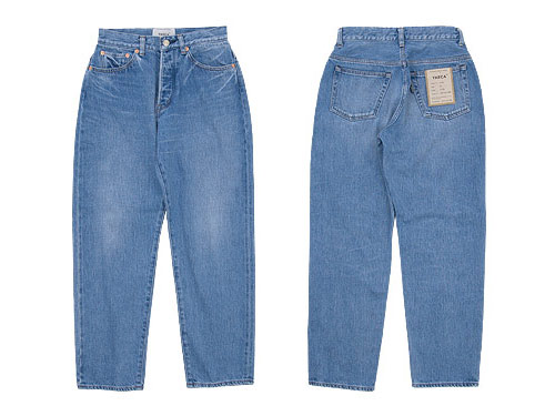 YAECA DENIM PANTS WIDE TAPERED 12U BLUE〔レディース〕