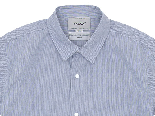 YAECA COMFORT SHIRT REGULAR COLLAR BLUE STRIPE 〔メンズ〕