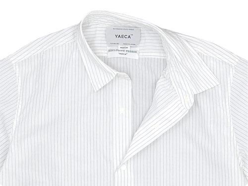 YAECA COMFORT SHIRT REGULAR COLLAR NAVY STRIPE 〔メンズ〕