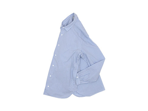 YAECA COMFORT SHIRT LONG BLUE STRIPE 〔メンズ〕