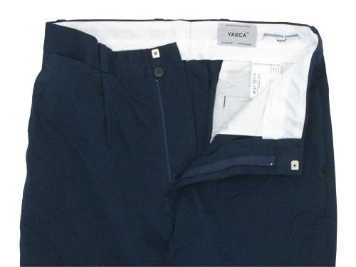 YAECA CHINO CLOTH PANTS TUCK TAPERED BEIGE 〔メンズ〕