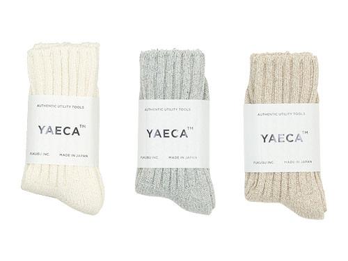 YAECA コットンシルクソックス / デニム ワイドストレート