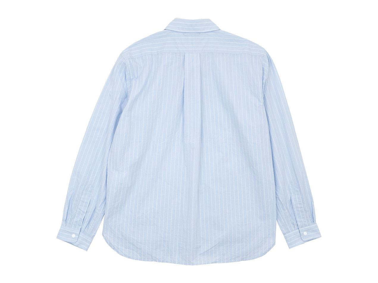 YAECA コンフォートシャツ リラックス ロング BANKER STRIPE 〔メンズ〕