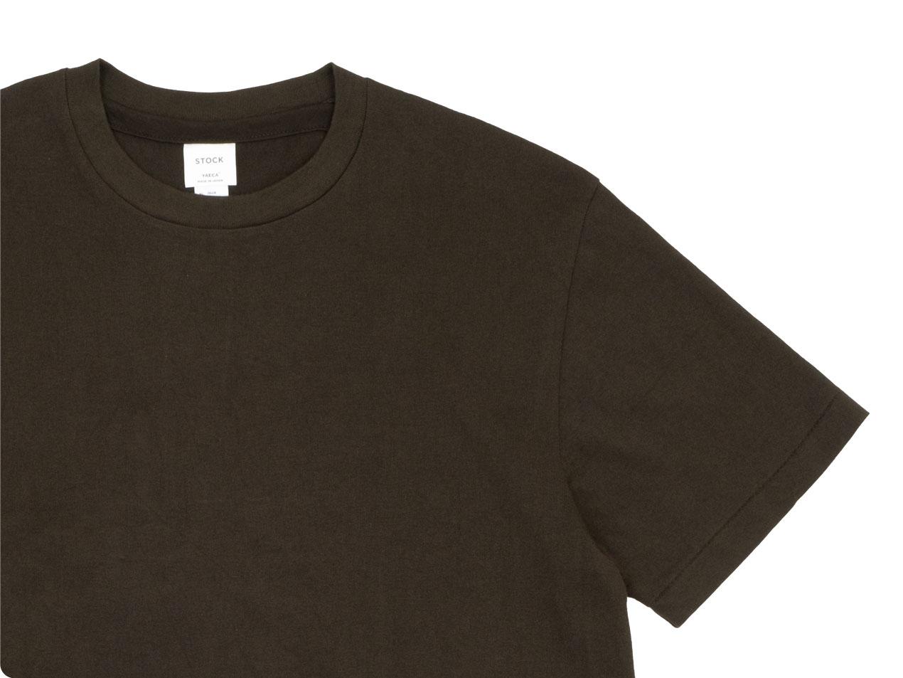 YAECA STOCK 丸胴シルクタッチ 半袖Tシャツ