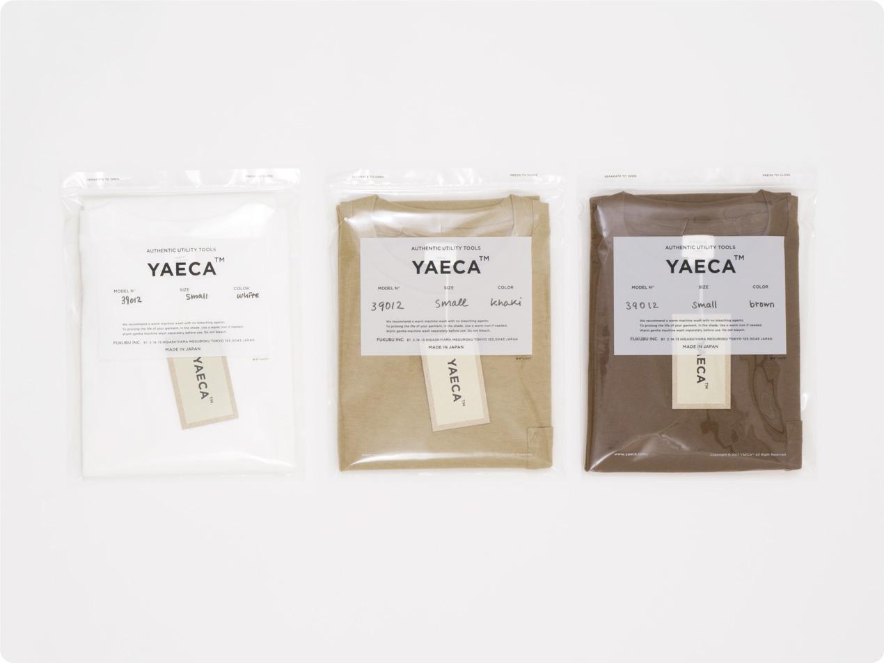 YAECA STOCK ポケットTシャツ / 丸胴シルクタッチ 半袖Tシャツ / チノパン タックテーパード