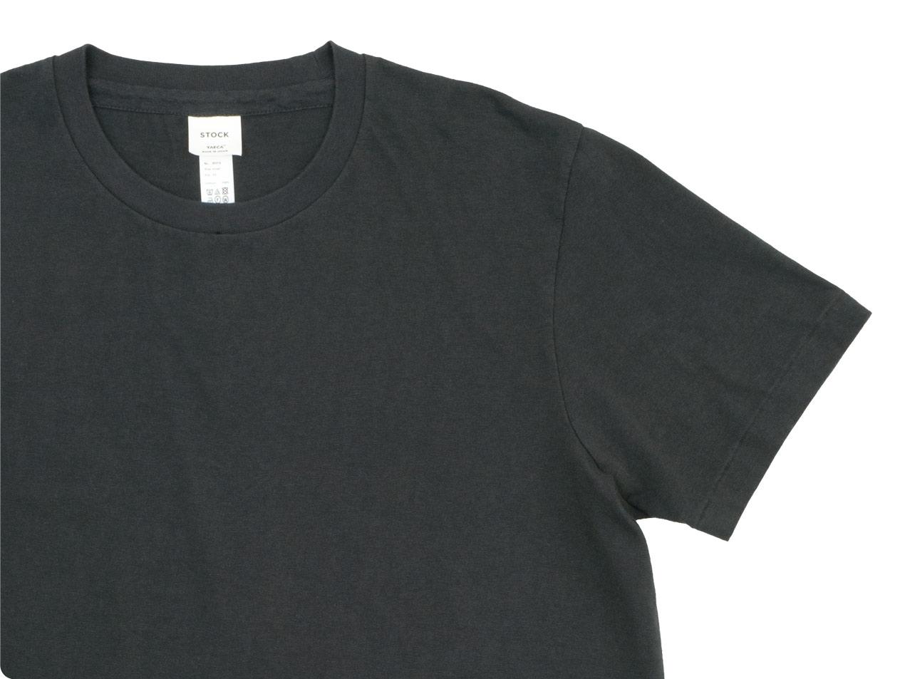 YAECA STOCK クルーネック 半袖Tシャツ 〔メンズ〕