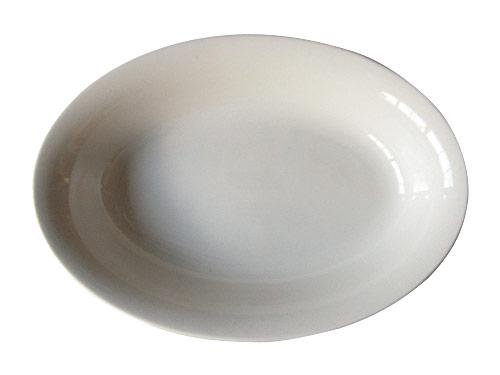 白いオーバルボウル